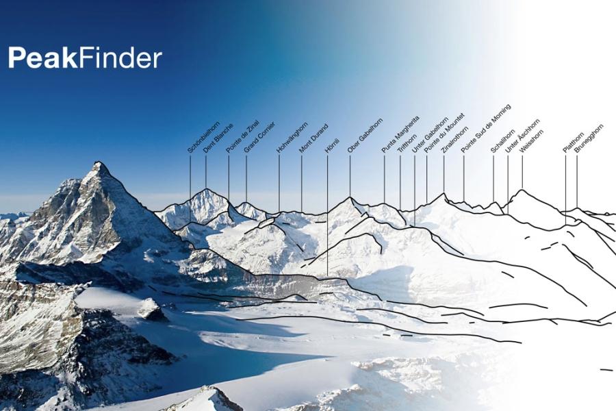 PeakFinder App (c) www.peakfinder.org